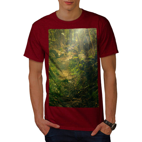 Green Natural Forest Mens T-Shirt