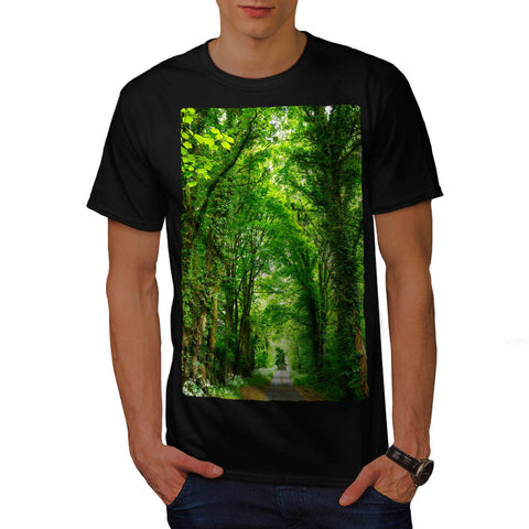 Green Forest Road Mens T-Shirt