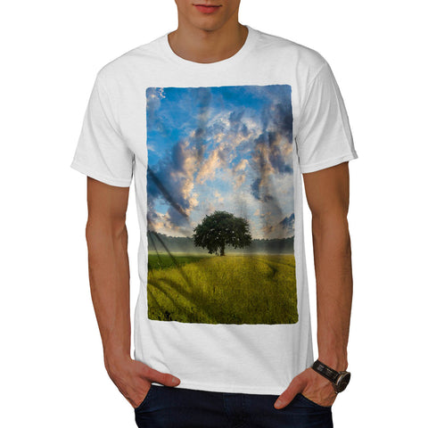 Alone Tree View Mens T-Shirt