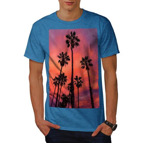 Palm Tree In Cloud Mens T-Shirt