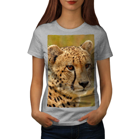 Fierce Cheetah Gaze Womens T-Shirt