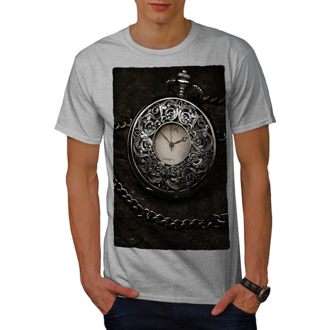 Old Retro Clock Mens T-Shirt
