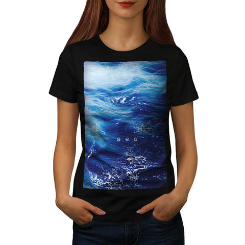 Beautiful Blue Sea Womens T-Shirt