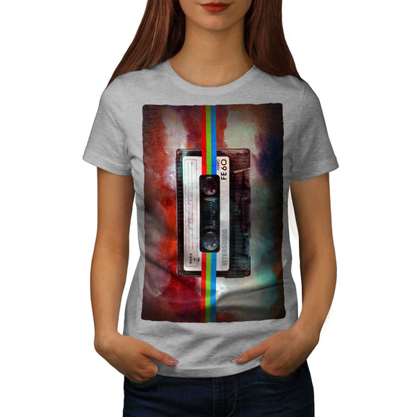 Old Tape Cassette Womens T-Shirt