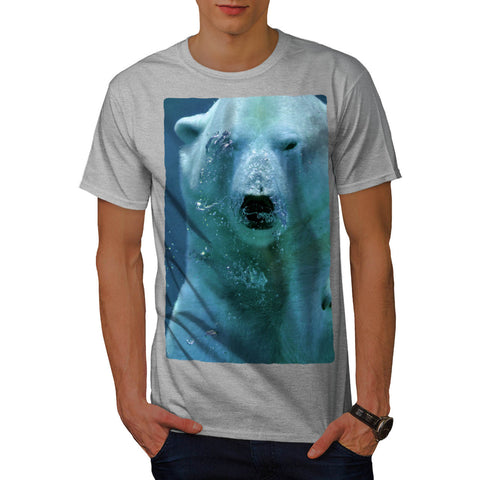Polar Bear Under Water Mens T-Shirt