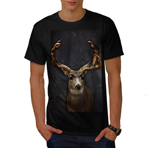 Digital Deer Horned Mens T-Shirt