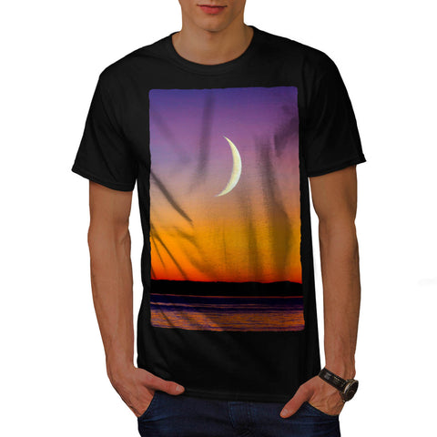 Moon Over The Sea Mens T-Shirt