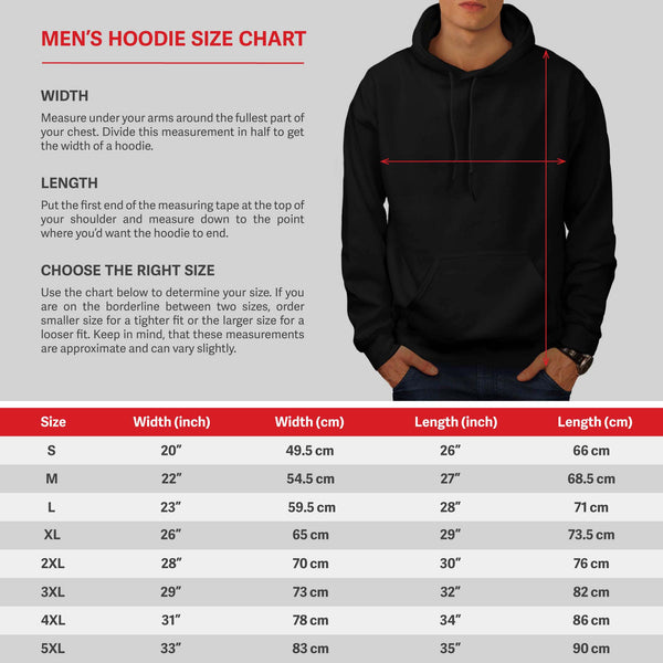 Multiple Food Fun Mens Hoodie