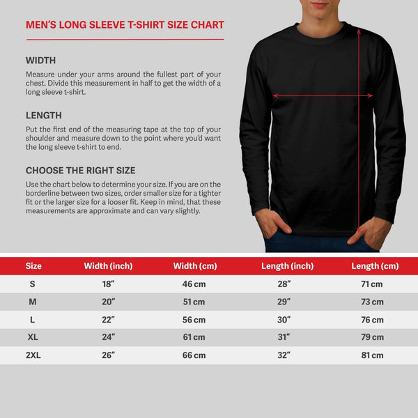 Apparel Three Star Mens Long Sleeve T-Shirt