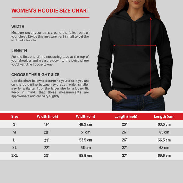 Creepy Half Lady Face Womens Hoodie