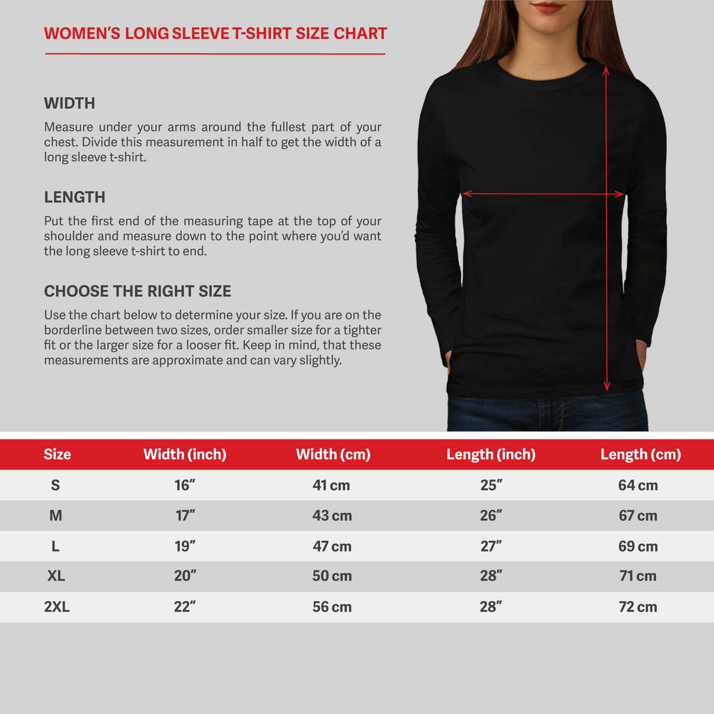 Rib Cage Heart USA Womens Long Sleeve T-Shirt