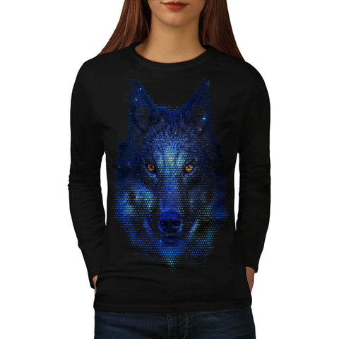 Wild Wolf Pixel Life Womens Long Sleeve T-Shirt