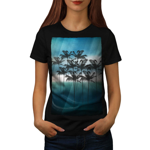 Palm Tree Holiday Fun Womens T-Shirt