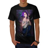 Anime Girl Fighter Mens T-Shirt