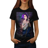 Anime Girl Fighter Womens T-Shirt