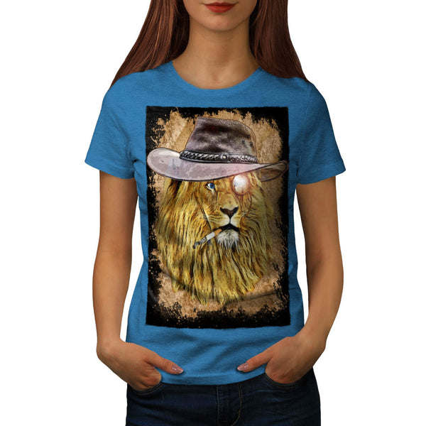 Safari Lion Animal Womens T-Shirt