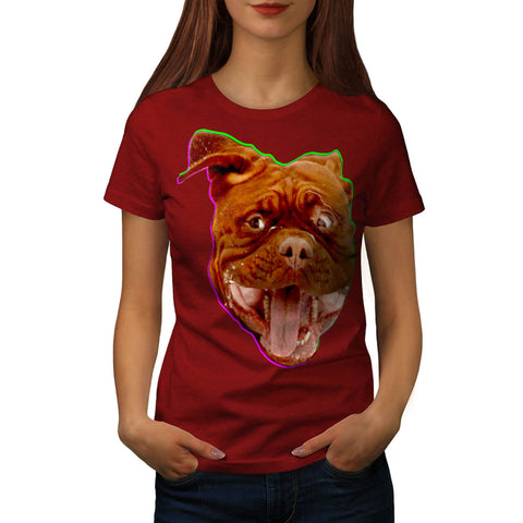 Funny Dog Emotion Womens T-Shirt