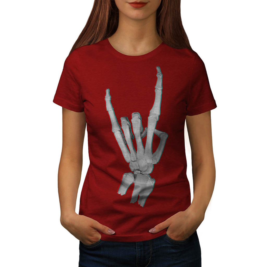 Skeleton Rock&Roll Womens T-Shirt