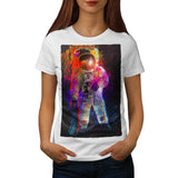 Spaceman Walk Moon Womens T-Shirt
