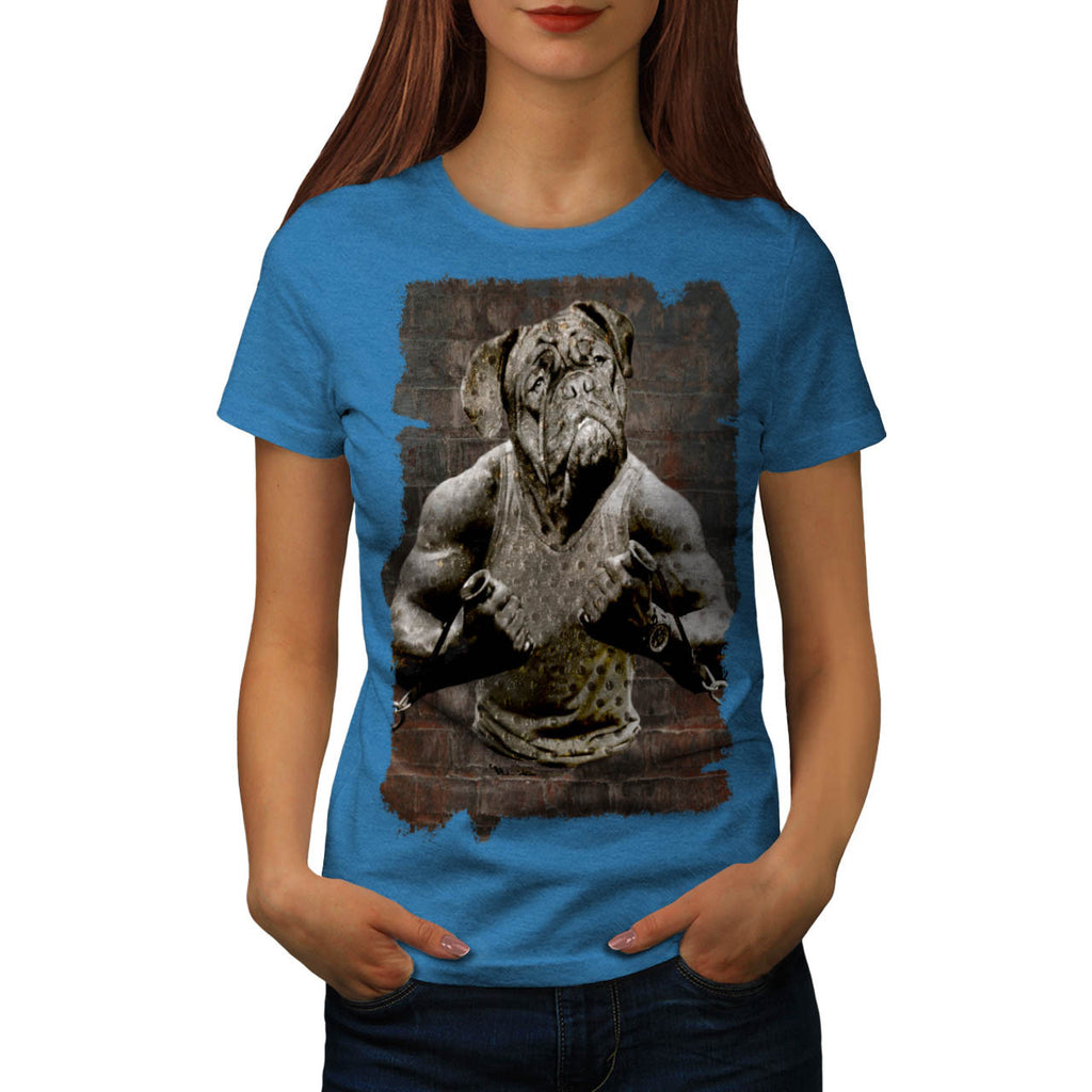 Dog Body Building Womens T-Shirt