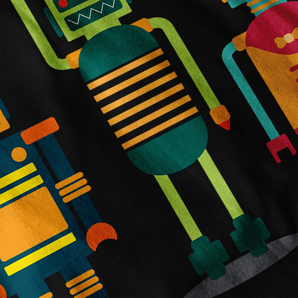 Cartoon Robot Party Mens Long Sleeve T-Shirt