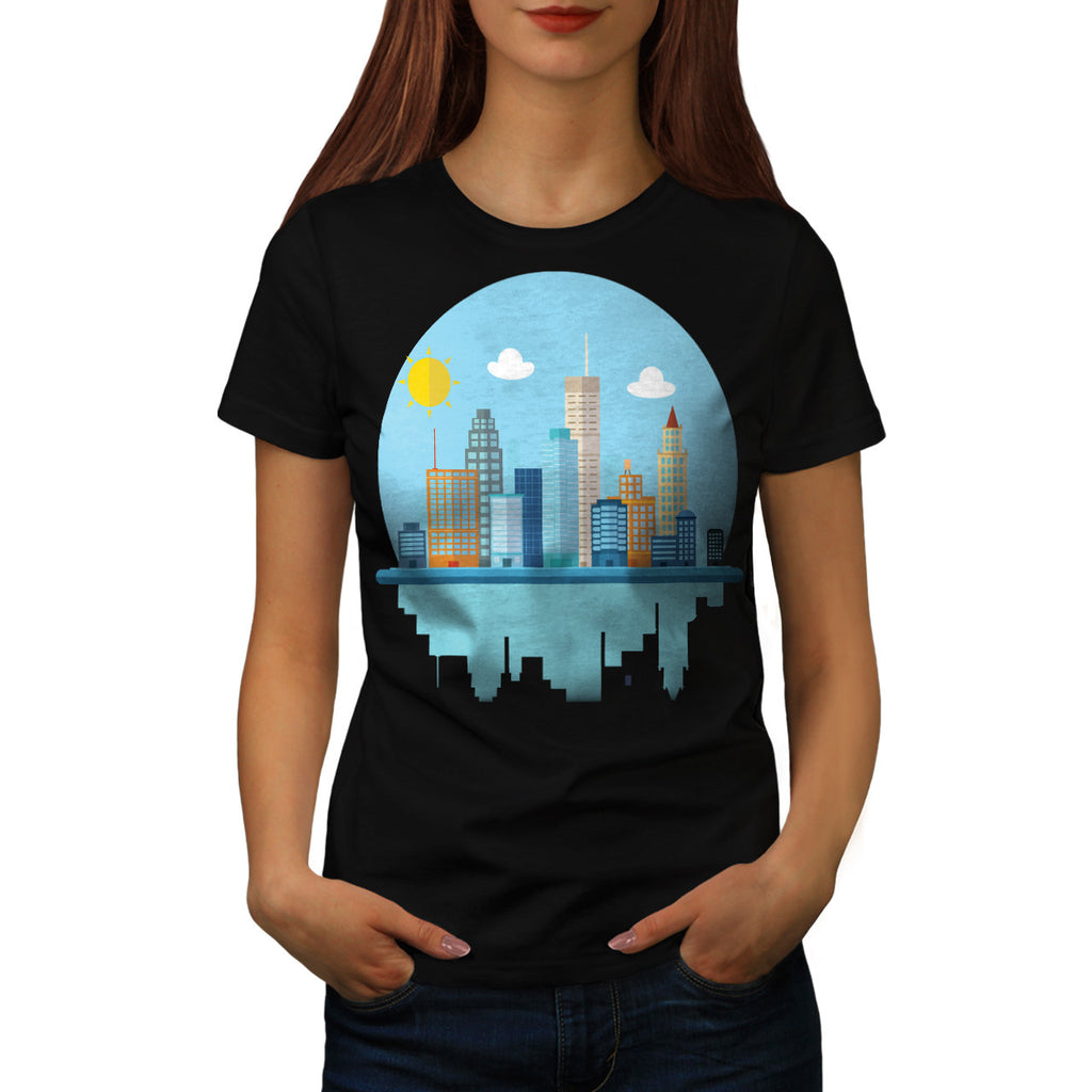 Sun City View Town Womens T-Shirt