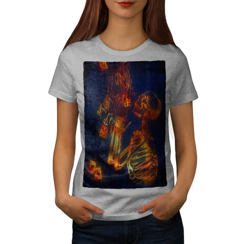 Casino Skeleton Womens T-Shirt