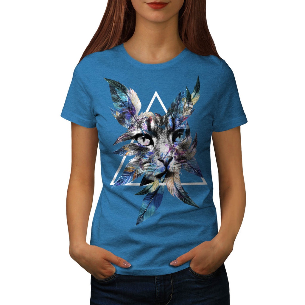 Wild Cat Scary Look Womens T-Shirt
