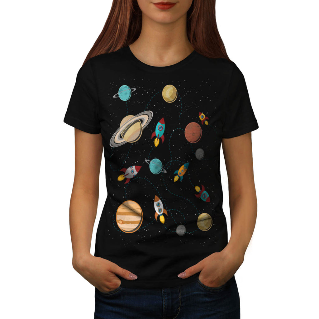 Rocket Space Landing Womens T-Shirt
