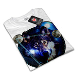 Wolf Outer Space Womens T-Shirt