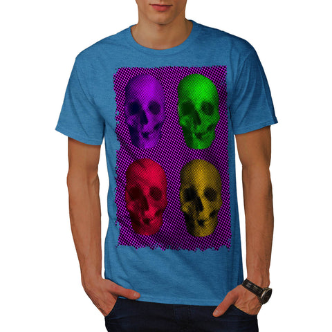 Skull Glow Art Head Mens T-Shirt