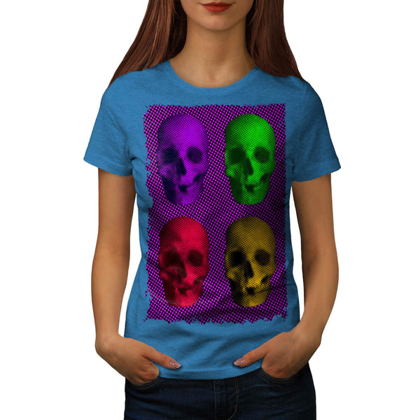 Skull Glow Head Art Womens T-Shirt