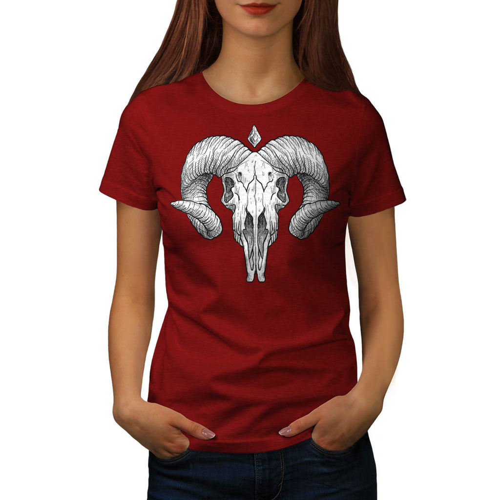 Skull Head Body Beast Womens T-Shirt