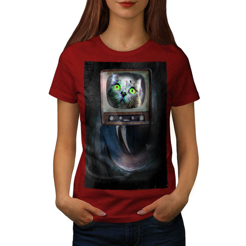 Cat Head Television Womens T-Shirt
