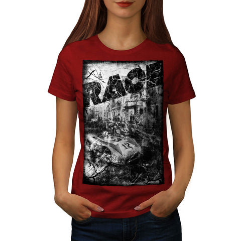 Car Race Nostalgia Womens T-Shirt