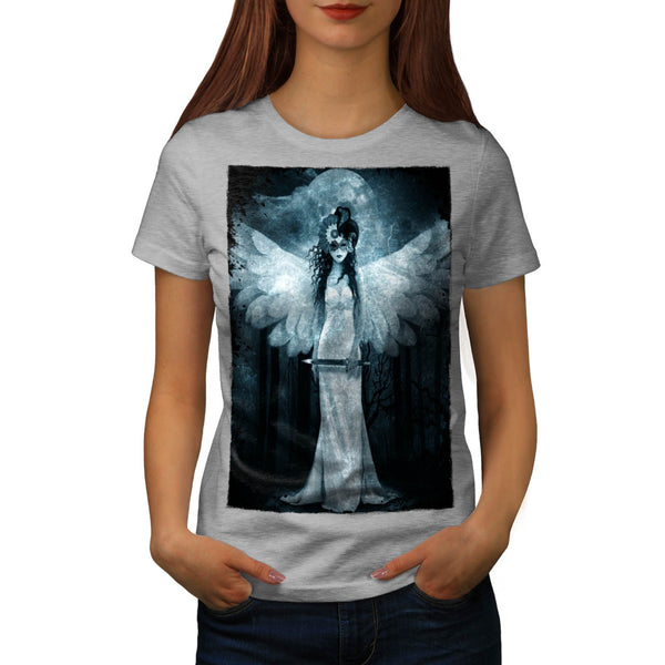 Angel Death Reaper Womens T-Shirt