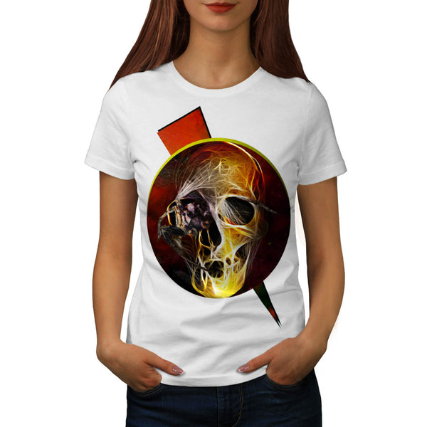 Skull Hell Devil Eye Womens T-Shirt