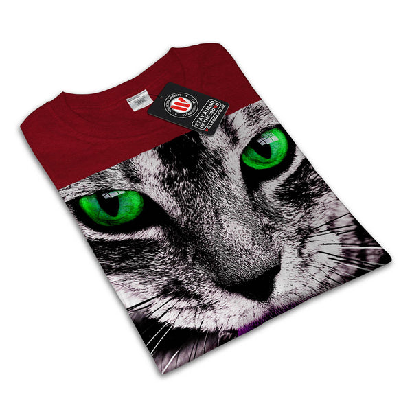 Meow Cute Kitty Face Womens T-Shirt