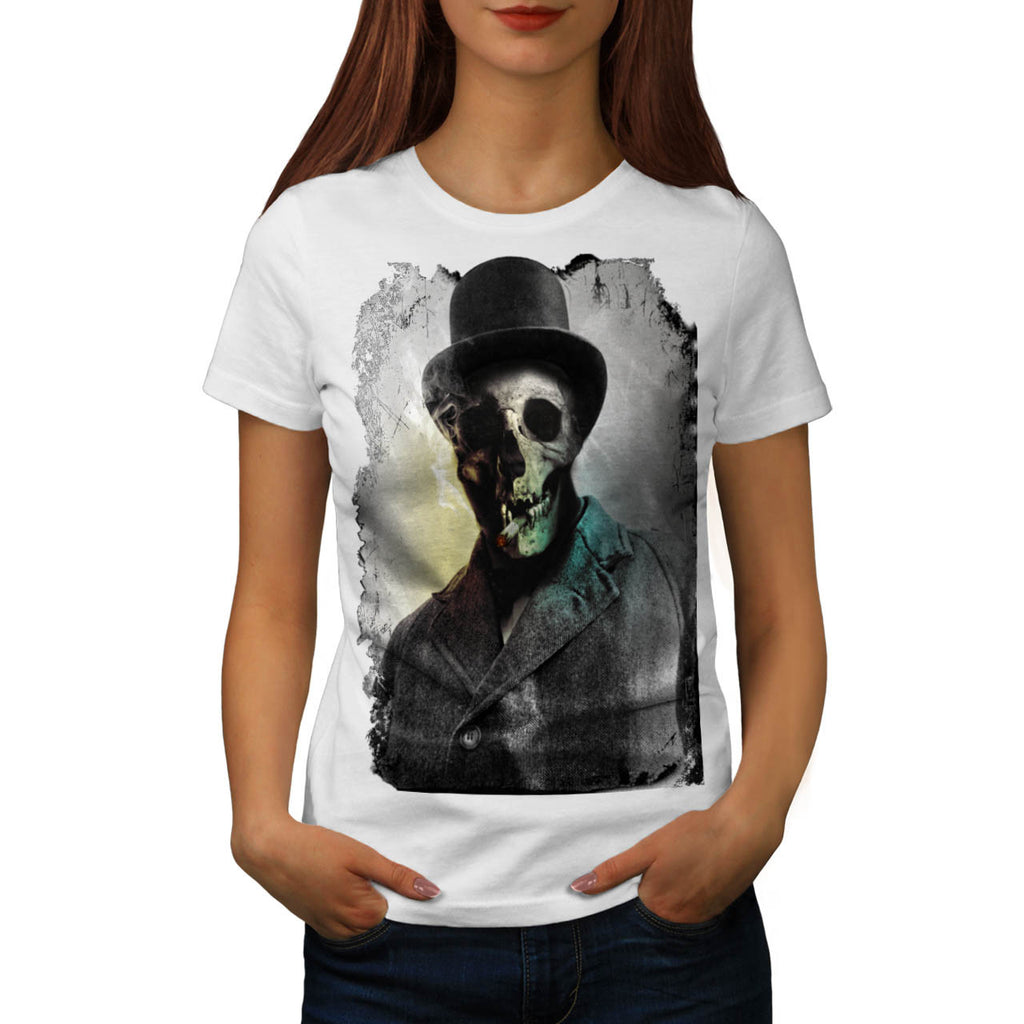 Skull Zombie Body Womens T-Shirt