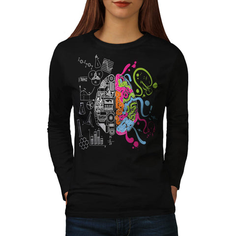 Creative Brain Mind Womens Long Sleeve T-Shirt