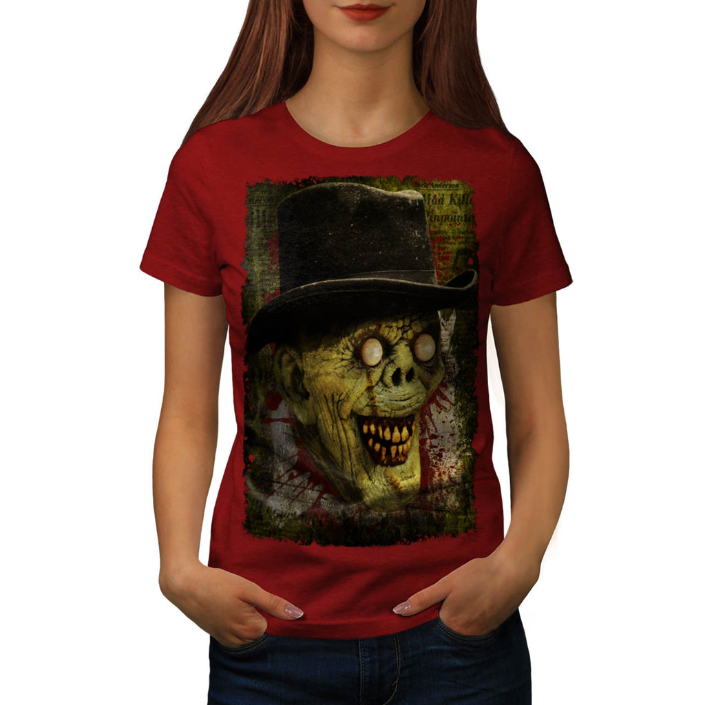 Happy Smile Zombie Womens T-Shirt