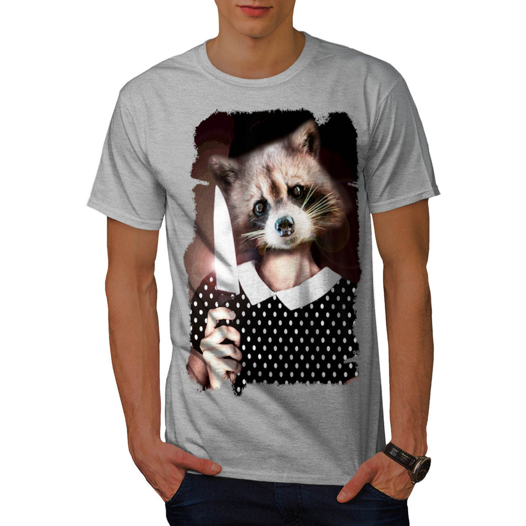 Raccoon Girl Sweet Mens T-Shirt
