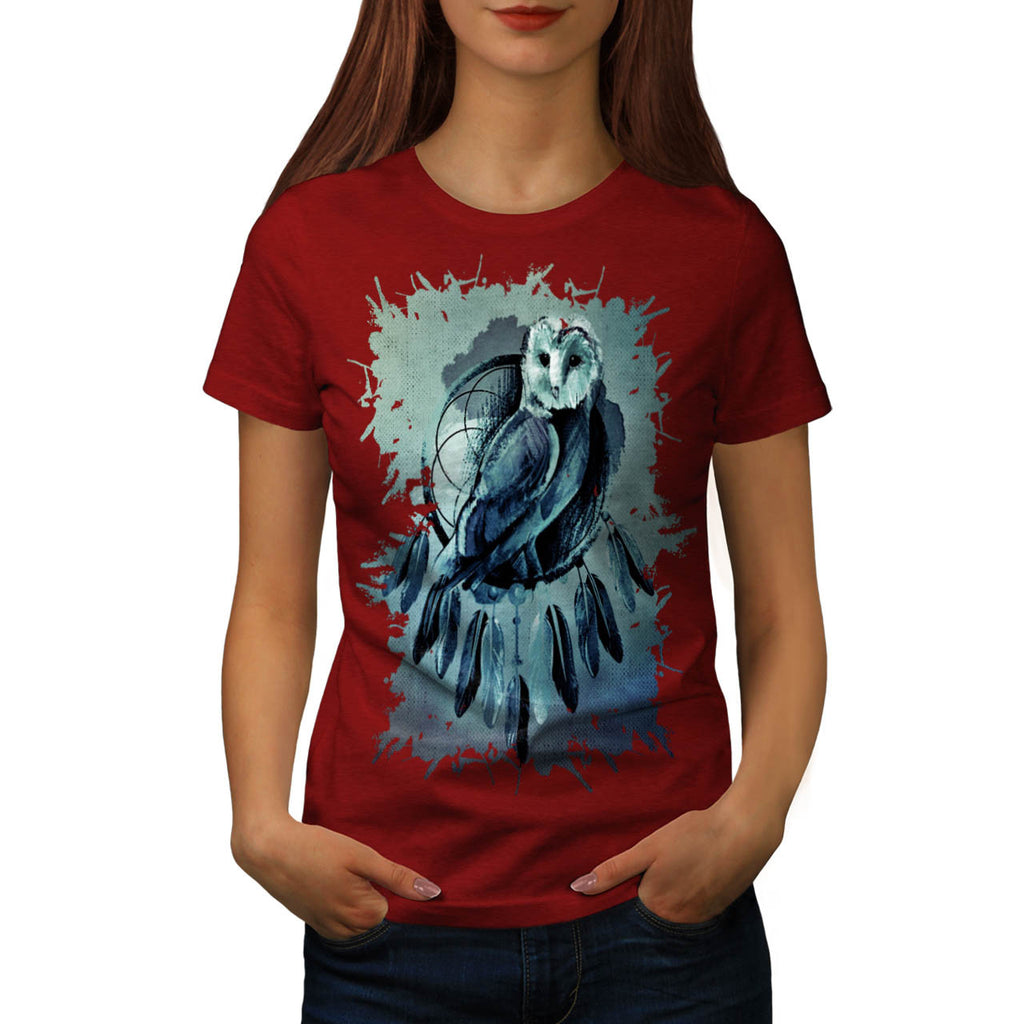Owl Night Creature Womens T-Shirt