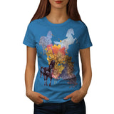 Horse Art Wild Life Womens T-Shirt