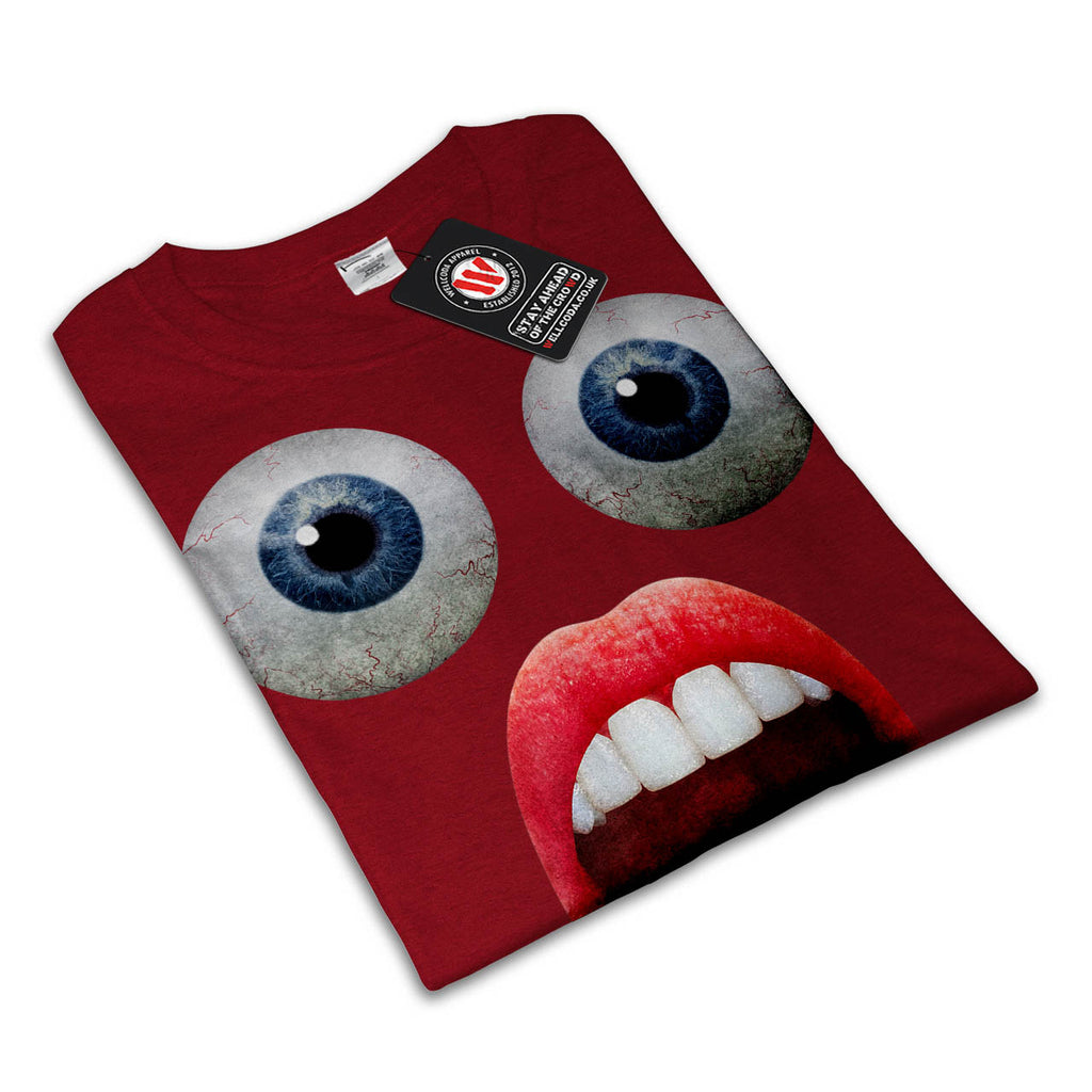 Amazed Face Funny Mens T-Shirt