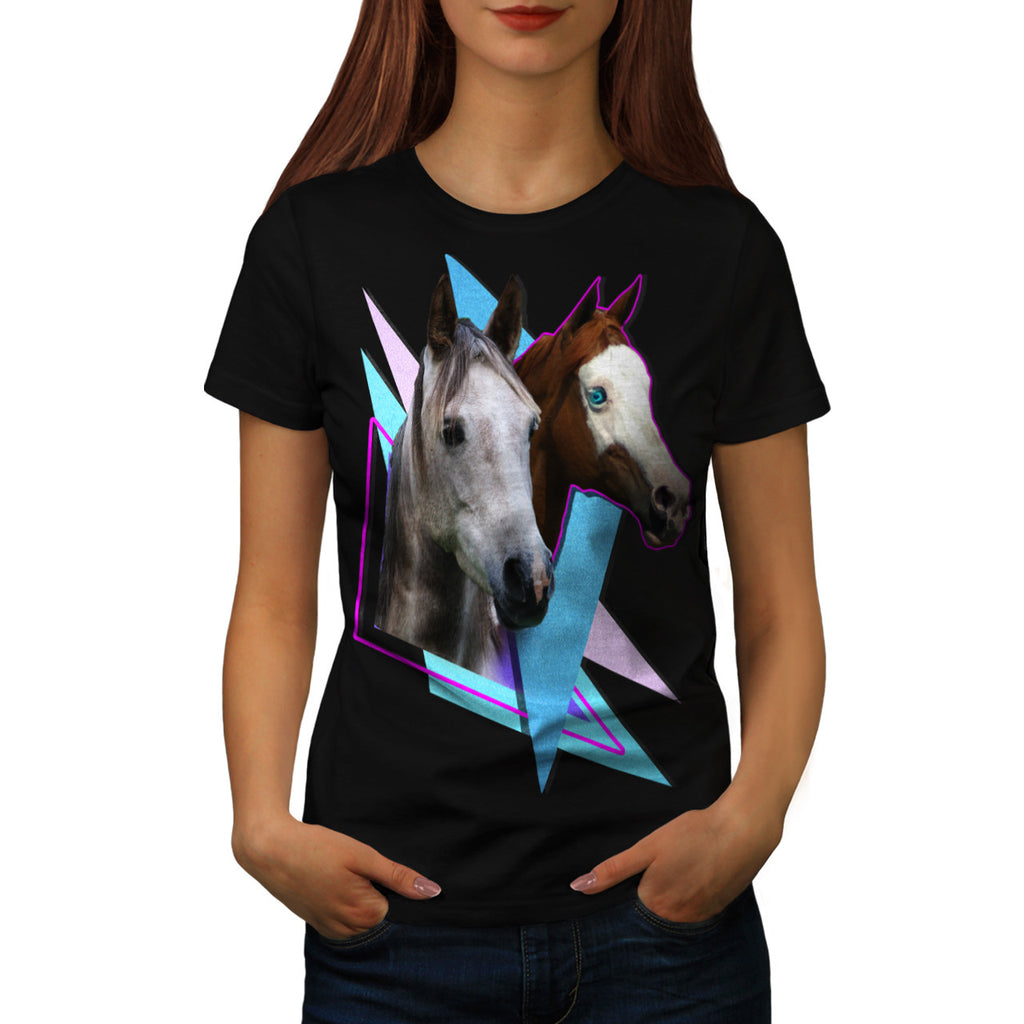 Lovely Horse Couple Womens T-Shirt