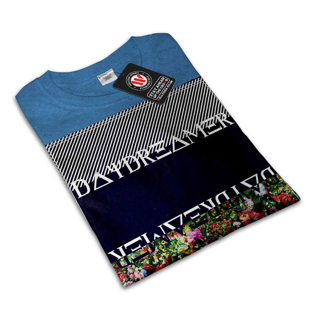 Daydreamer Flower Bed Mens Black White Grey Red Royal Blue T Shirt