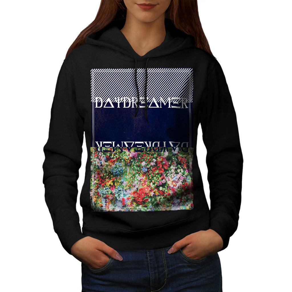 Daydreamer Flower Bed Womens Hoodie