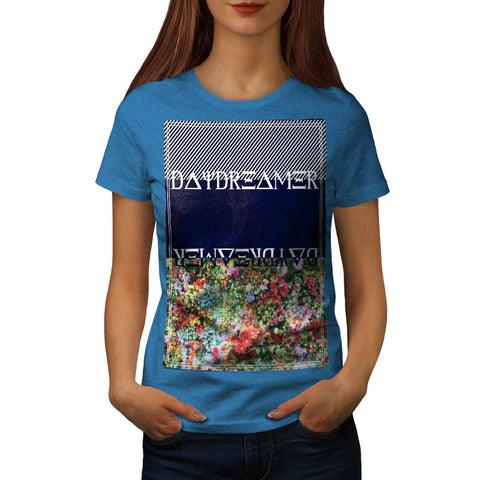 Daydreamer Flower Bed Womens T-Shirt