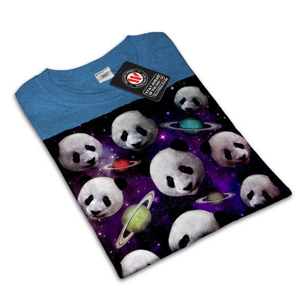 3D Panda Cool Space Womens T-Shirt
